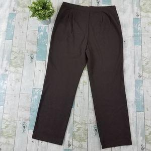 Eileen Fisher Brown Elastic Waist Pants Straight